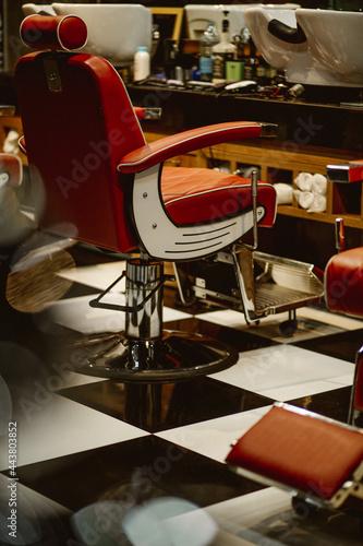 Fotografia Cadeira de barbearia