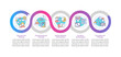 ASD treatment methods vector infographic template. ABA techniques presentation outline design elements. Data visualization with 5 steps. Process timeline info chart. Workflow layout with line icons