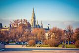 Fototapeta Kuchnia - View on Town Hall in Vienna, Austria
