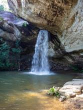 The Beautiful Sang Chan Waterfall(Long Ru Waterfall) At Ubon Ratchathani, Thailand.