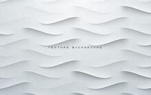 Dynamic Wavy Light And Shadow Gray Background