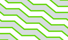 Geometric Abstract Design With Grey And Green Stripes. Zig Zag And Chevron Effect