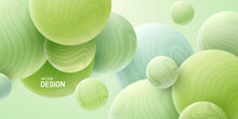 Abstract Background With 3d Mint Green Spheres.