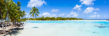 Panorama Of A Blue Lagoon On A Tropical Island