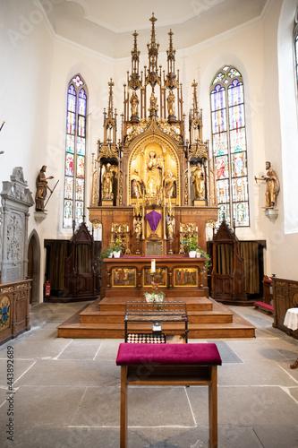 Billede på lærred interior of the church