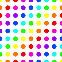 Seamless Pattern Created By Several Color Of Circles Set To Background