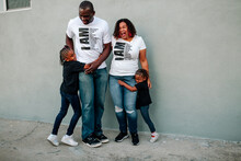 Laughing Black Family