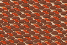 Pattern Of 3d Brown Semicircles
