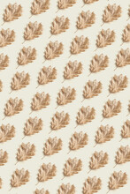 Seamless Pattern Of Dry Leaves