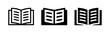 Open book icon vector graphic illustration. Textbook symbol
