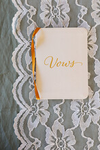 Vows Booklet On Lace