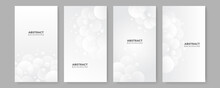Abstract White Square Shape With Futuristic Concept Background. Set Of White Abstract Background Collection With Simple Minimal Elements
