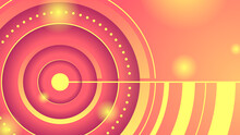 Abstract Circle Yellow Red Gradient Background