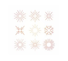 Set Of Icons Snow Flakes Star Colorful White Background Illustrations
