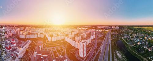 Fotografiet Cityscape of Gomel, Belarus