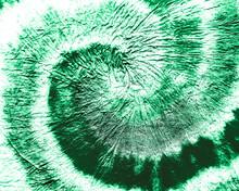 Green Spiral Tie Dye Batik. Psychedelic Pattern. Dirty Background. Brushed Graffiti. Rough Art Print. Organic Swirl  Watercolor Clothing. Spiral Tie Dye Grunge. Swirl  Watercolor Vintage.