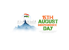 Illustration Of Famous Indian Monument, Ashoka Chakra, 15th August Happy Independence Day