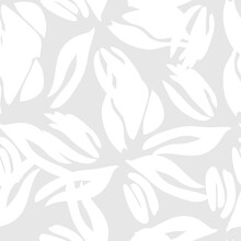 Black And White Floral Seamless Pattern Background