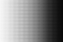 Dot Perforation Texture. Dots Halftone Pattern. Fade Shade Background. Noise Gradation. Black Pattern Isolated On White Background For Overlay Effect. Design Comic. Gradient Point. Vector Illustration