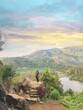 Leinwandbild Motiv Scenic View Of Lake And Mountains Against Sky
