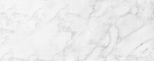 Panorama Image Of White Marble Stone Texture For Background Or Luxurious Tiles Floor And Wallpaper Decorative Design.