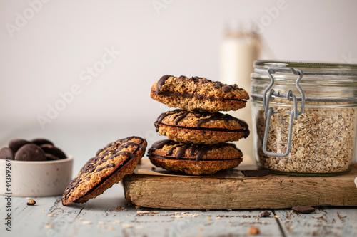 Canvas-taulu Biscuits avoine double chocolat fait maison