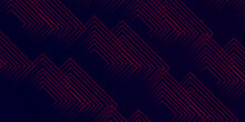 Abstract 3d Futuristic Red Pattern Background .