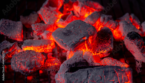 Obraz na plátně Burning coals from a fire abstract background