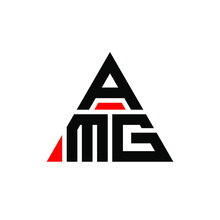 AMG Triangle Letter Logo Design With Triangle Shape. AMG Triangle Logo Design Monogram. AMG Triangle Vector Logo Template With Red Color. AMG Triangular Logo Simple, Elegant, And Luxurious Logo. AMG