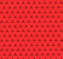 Red Pattern Design For The Purpose Of Fabric Designing.
