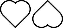 Heart Line Icons Set. Love Sign Transparent Background Vector Illustration