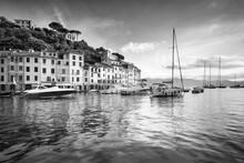 Portofino In Black And White, Genoa, Liguria, Italy