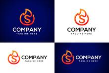 3d Fire Logo Letter S