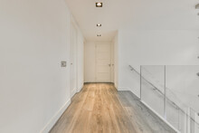 From Inside A Luxury Home A Empty Corridor Design