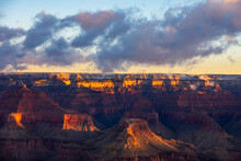 Beautiful Sunrise Over The Grand Canyon In Mid February