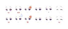 Anime Manga Girl Expressions Eyes Set_5