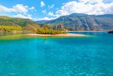Panoramic View Of Oludeniz Beach And Blue Lagoon, Oludeniz Beach Is Best Beaches In Turkey - Fethiye, Turkey