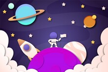 Paper Style Galaxy Background 1