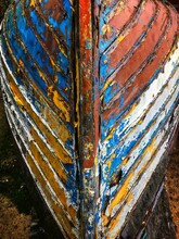 Old Boat With Flakey Paint