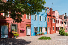 Multicolor Houses In Burano, Italy