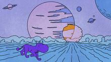 Purple Alien Creature On Fantasy Planet