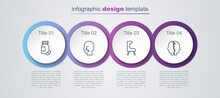 Set Line Sedative Pills, Man Graves Funeral Sorrow, Armchair And Bipolar Disorder. Business Infographic Template. Vector