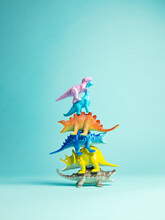 Roar-o-saurus A Stack Of Toy Dinosaurs