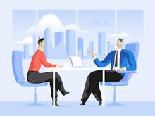 Business Meeting Tra Venditore E Cliente In Ufficio