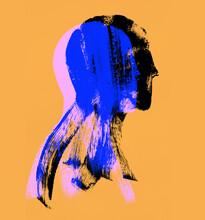 Reflex Blue Grunge Portrait On Apricot