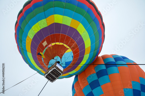 Fotografie, Obraz Colourful hot air balloons flying in the sky at the festival aeronautical