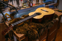 Wooden Pieces For The Construction Of Classical Spanish Guitar