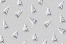 Pattern Of White Scattered Paperplanes