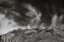 Whisps Of Clouds Over Hunter Peak In Guadalupe Mountains