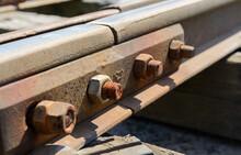 The Old Railway. Wooden Sleepers. Steel Rails